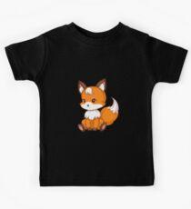 Cute sitting fox Kids Tee