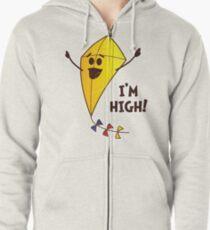 High As A Kite Zipped Hoodie