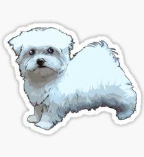 Comic Maltese Dog Sticker