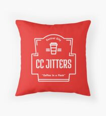 CC Jitters - Coffee In A Flash Throw Pillow