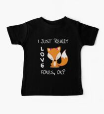 I just really love Foxes, ok? Baby Tee