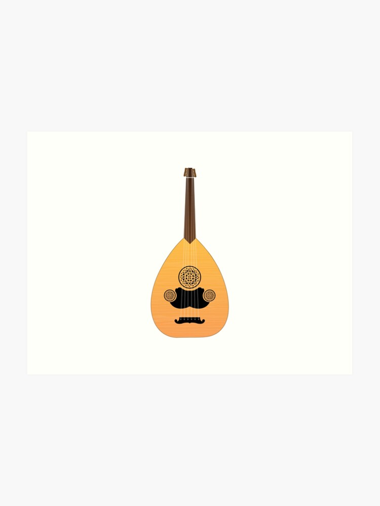 Cool ARABIC OUD INSTRUMENT Design Gift For Music Lovers Boys Girls and Kids  | Art Print