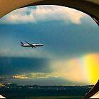 FLYING INTO A RAINBOW by WhiteDove Studio kj gordon
