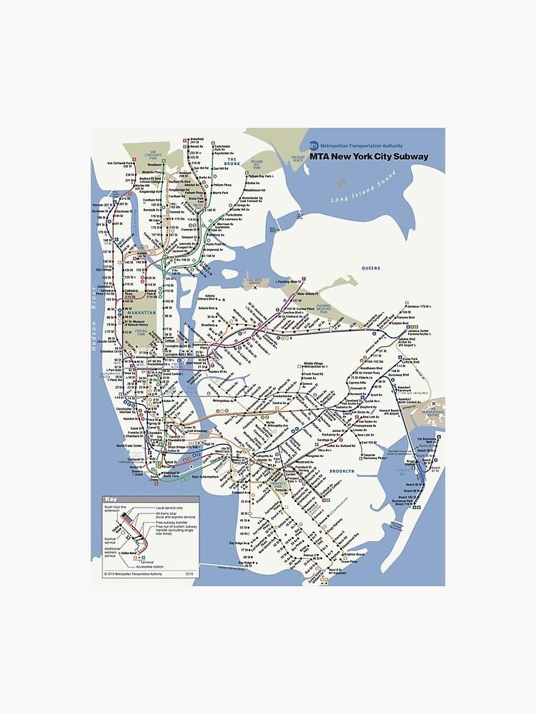 Nyc Subway Map Key.New York City Subway Map Photographic Print