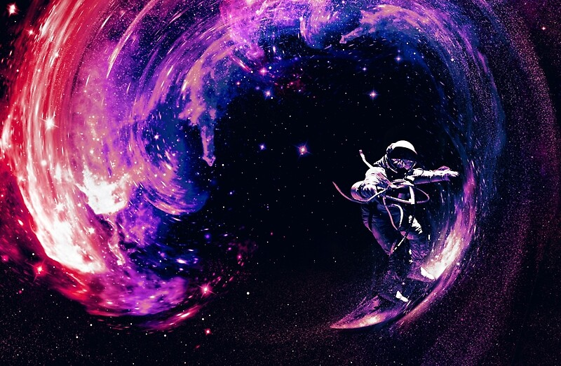 trippy outer space wallpaper