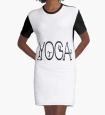 Yoga Letras Graphic T-Shirt Dress
