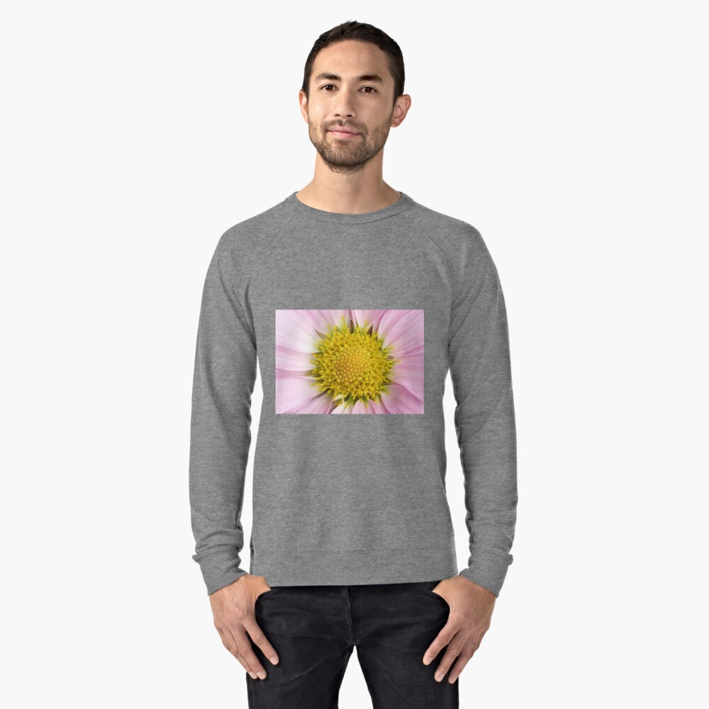 Pink Flower Lightweight Sweatshirt Front