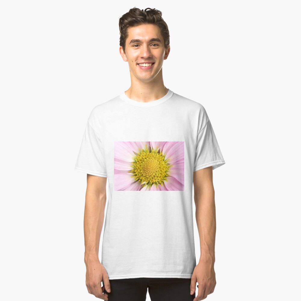 Pink Flower Classic T-Shirt Front