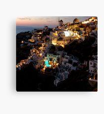 NIGHT IN GREECE Canvas Print