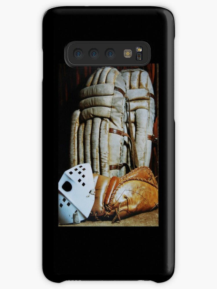 Vintage Hockey Goalie Equipment Cases Skins For Samsung Galaxy By