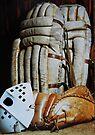 Vintage Hockey Goalie Equipment by Laurie Minor