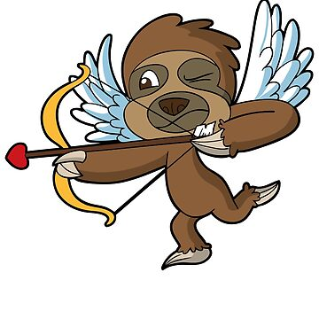 Cupid Sloth Valentine's Day Shirt by frittata