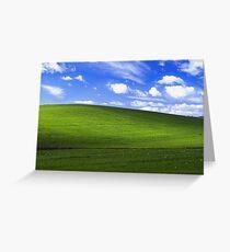Bliss - Windows XP Wallpaper Greeting Card