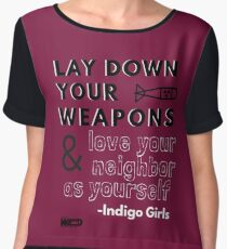 Indigo Girls Concert Merch - Lay Down Your Weapons Chiffon Top