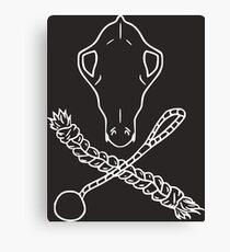 Skull n Crossbones White Canvas Print