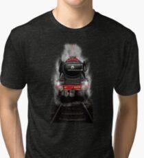 Flying Scotsman Through the Night By MotorManiac Tri-blend T-Shirt