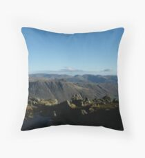 Crinkle Crags summit Throw Pillow