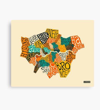 LONDON BOROUGHS MAP Canvas Print