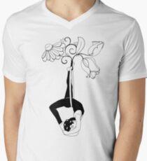 Lyra Back Balance Men's V-Neck T-Shirt