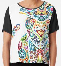 Motley Cat - Colores Chiffon Top