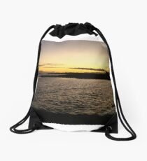A Galway Bay Sunset Drawstring Bag