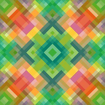Modern Stylish Squares Triangles Polygon Pattern by FudgePudge
