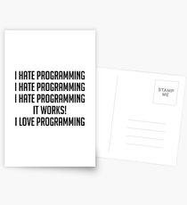 Postales Amo la programación