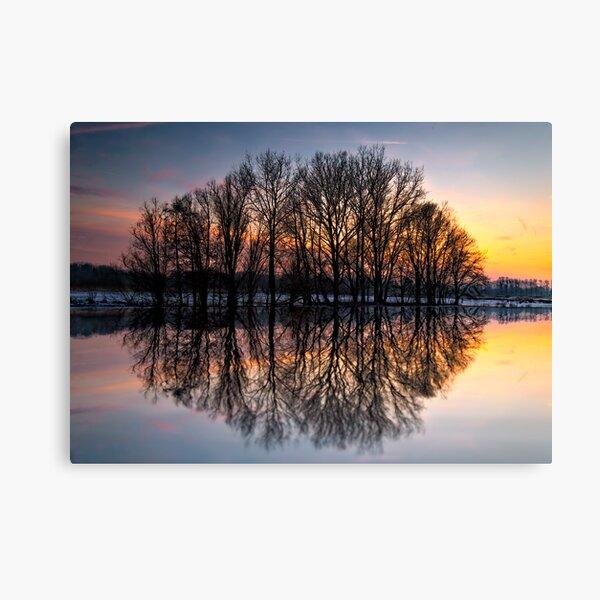 reflection, sunset Canvas Print