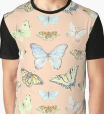 Pink Papillons  Graphic T-Shirt