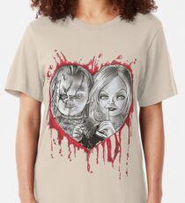 chucky and tiffany valentine's Slim Fit T-Shirt