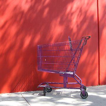 Purple Trolley Red Wall by crispyfried