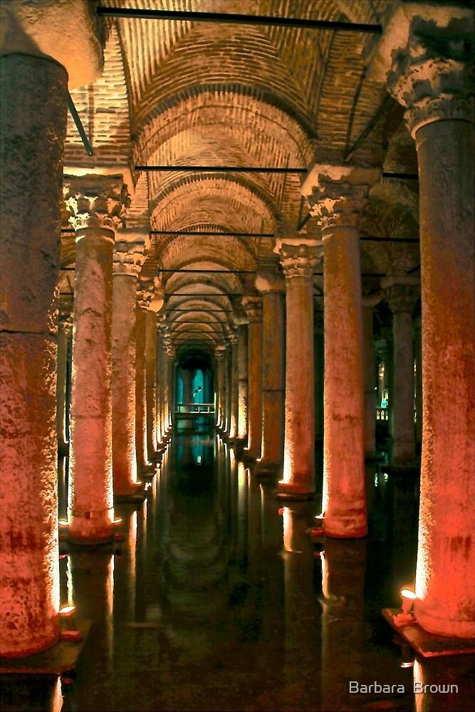 Underground Cistern, Istanbul Turkey by Barbara  Brown