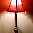 Red Lamp Shade by Ethna Gillespie