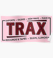 """""""TRAX"""" Records Store - Wie auf """"Pretty in Pink"""" zu sehen - 80er Jahre Poster"""