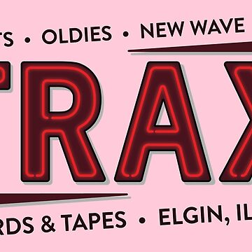 """TRAX"" Records Store - As seen on ""Pretty in Pink"" - 80's by vertigocreative"