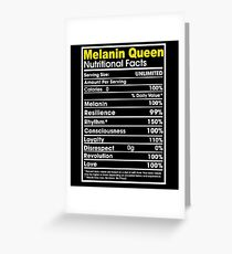 Melanin Queen Facts Greeting Card
