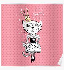 Royal cat Poster