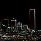 Skyline Denver Neon by MarcVDS