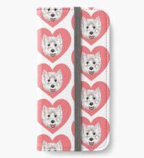 Mein Westie-Valentinsgruß iPhone Flip-Case/Hülle/Klebefolie
