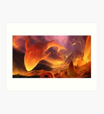 Great White Lava Bed Art Print