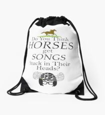 Do You Think Horses Get Songs Stuck In Their Heads? - Tina Belcher Drawstring Bag