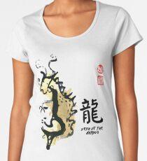 Year of DRAGON Painting Seal Animal Chinese Zodiac Women's Premium T-Shirt