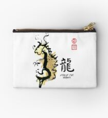 Year of DRAGON Painting Seal Animal Chinese Zodiac Studio Pouch