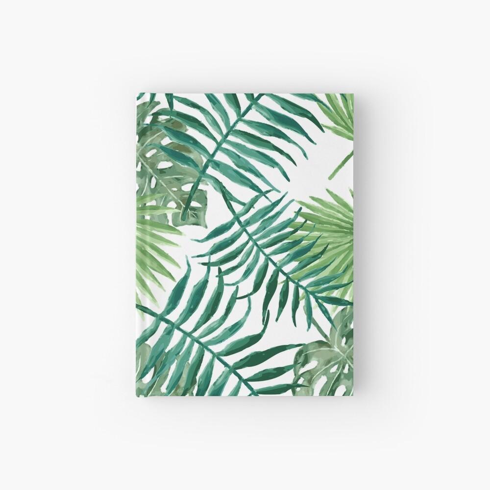 Tropische Palmwedel und Farne Notizbuch