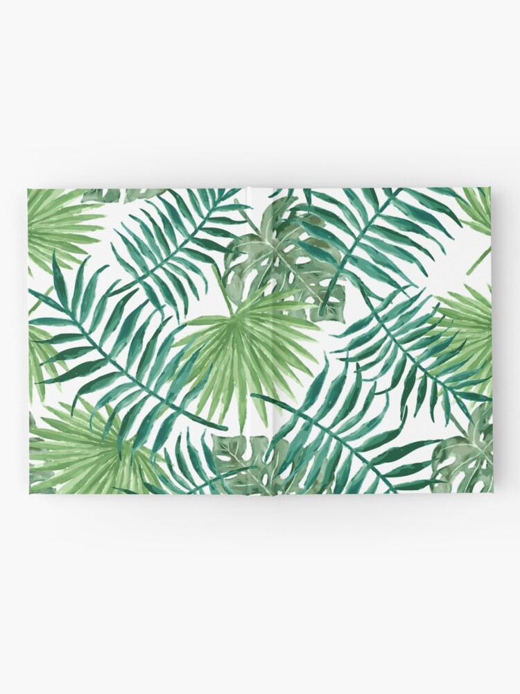 Alternative Ansicht von Tropische Palmwedel und Farne Notizbuch