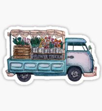 Flower Truck Sticker