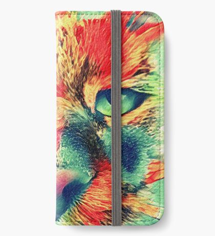 Artificial neural style wild cat iPhone Wallet