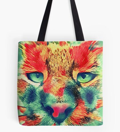 Artificial neural style wild cat Tote Bag