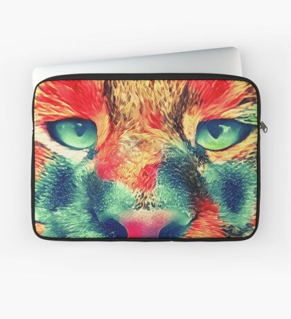 Artificial neural style wild cat Laptop Sleeve
