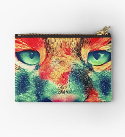 Artificial neural style wild cat Studio Pouch